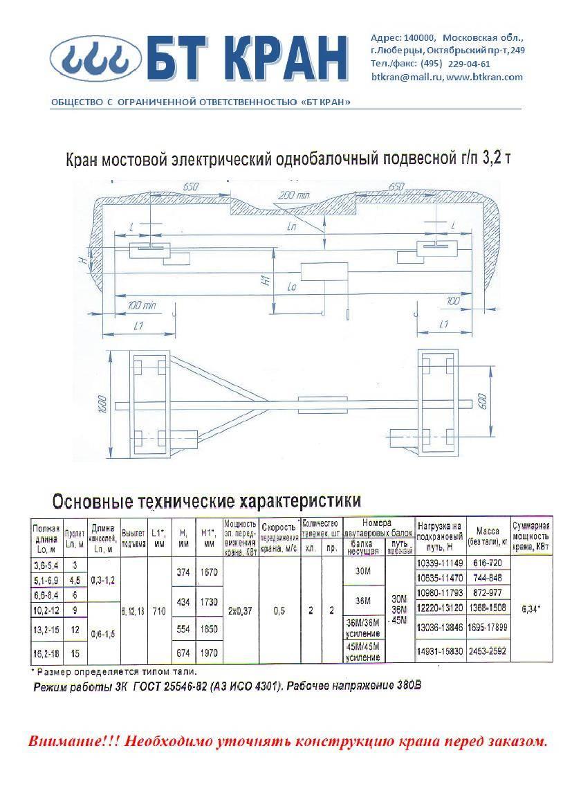 Инструкция по эксплуатации кран балка
