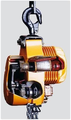 Таль цепная электрическая (в разрезе)
