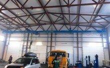 Трёхпролётная подвесная кран-балка 3,2т, 6+9+6м, кабельный подвес на передвижение крана (изготовление, доставка, монтаж)